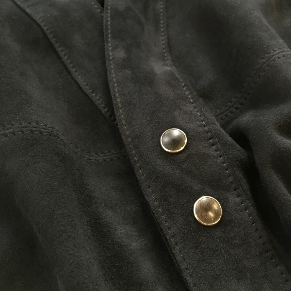 Marea Erre マレアエッレ suede cardigan shirt navy 3.jpg