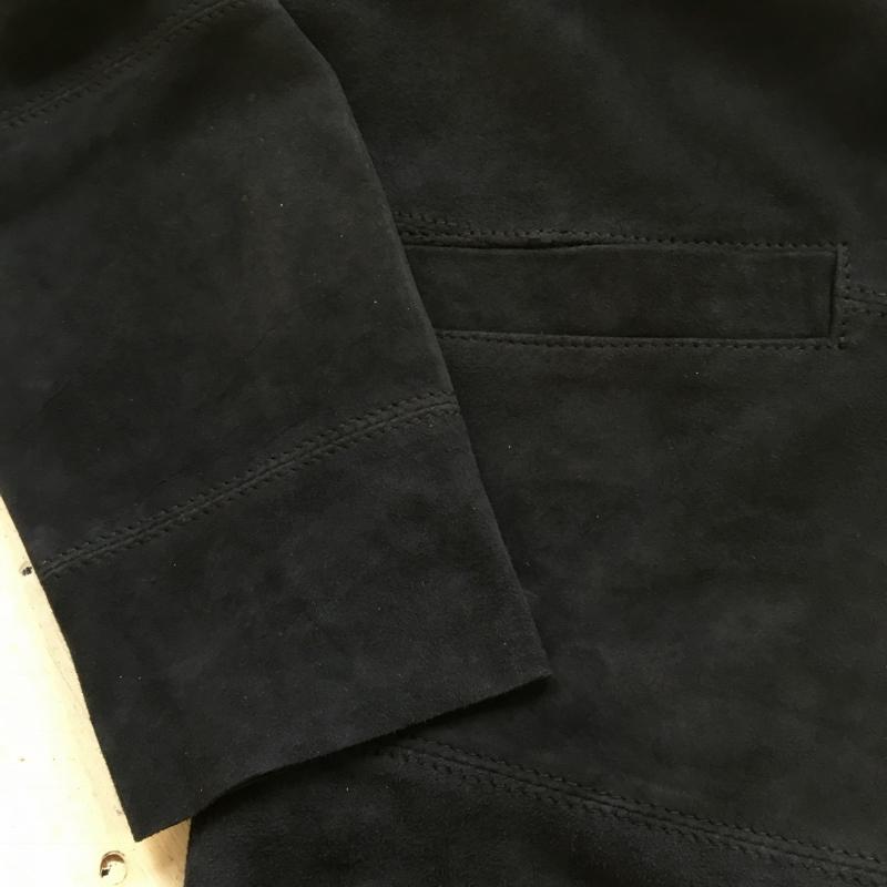 Marea Erre マレアエッレ suede cardigan shirt navy 4.jpg