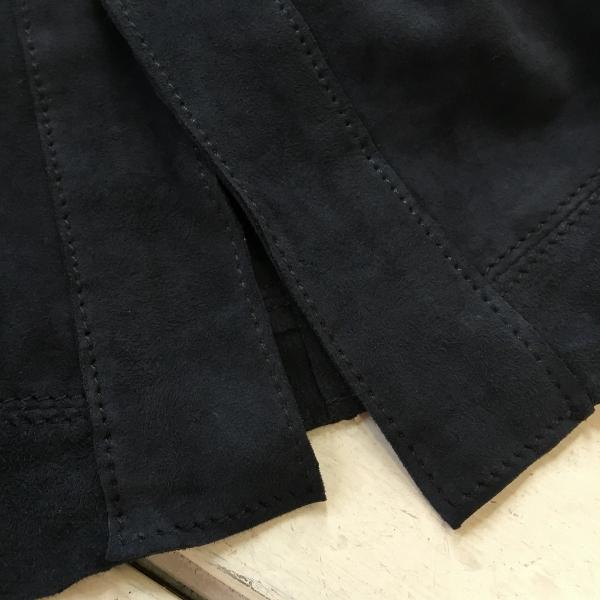 Marea Erre マレアエッレ suede cardigan shirt navy 5.jpg