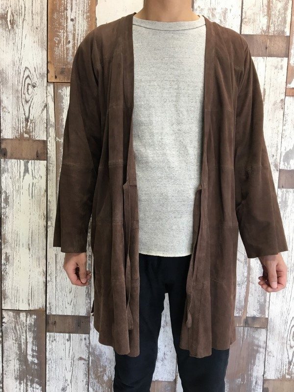 Marea Erre マレアエッレ suede long coat brown 1.jpg