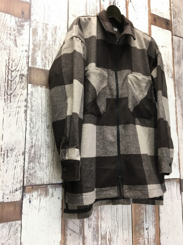 ONES STROKE ワンズストローク Wool Check ZIP Blouson 1.jpg