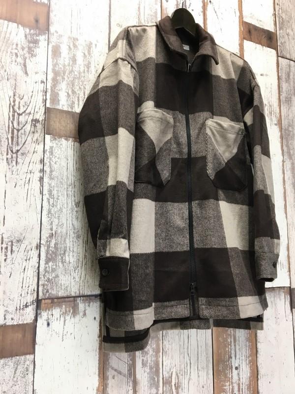 ONES STROKE ワンズストローク Wool Check ZIP Blouson 1.jpg