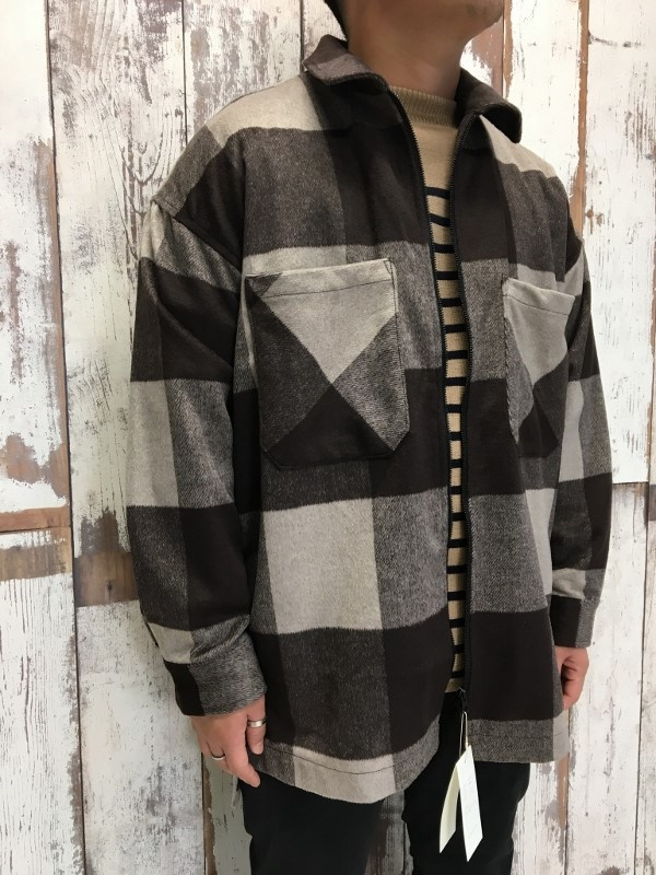 ONES STROKE ワンズストローク Wool Check ZIP Blouson 2.jpg