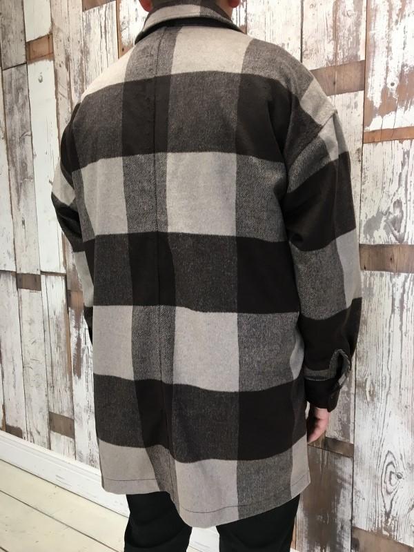 ONES STROKE ワンズストローク Wool Check ZIP Blouson 3.jpg
