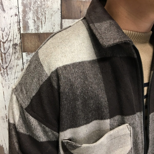 ONES STROKE ワンズストローク Wool Check ZIP Blouson 4.jpg