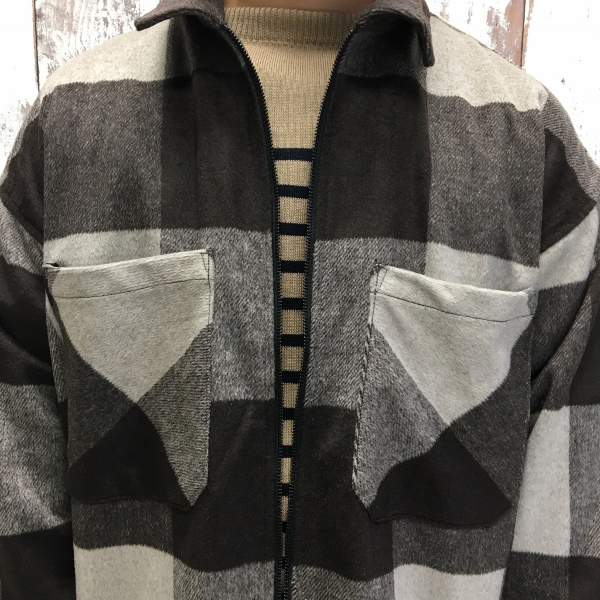 ONES STROKE ワンズストローク Wool Check ZIP Blouson 5.jpg