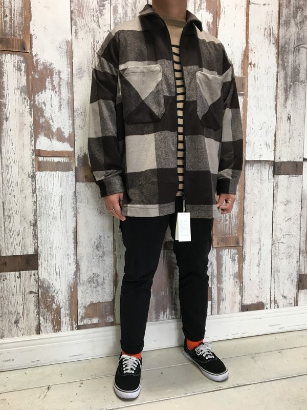 ONES STROKE ワンズストローク Wool Check ZIP Blouson 6.jpg