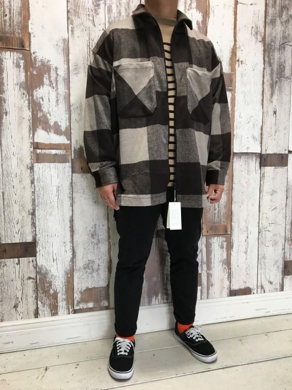 ONES STROKE ワンズストローク Wool Check ZIP Blouson 6.jpg