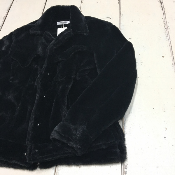 ONES STROKE ワンズストローク Fake Fur Jean Jacket 1.jpg