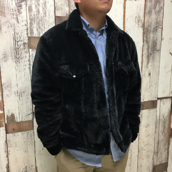 ONES STROKE ワンズストローク Fake Fur Jean Jacket 2.jpg
