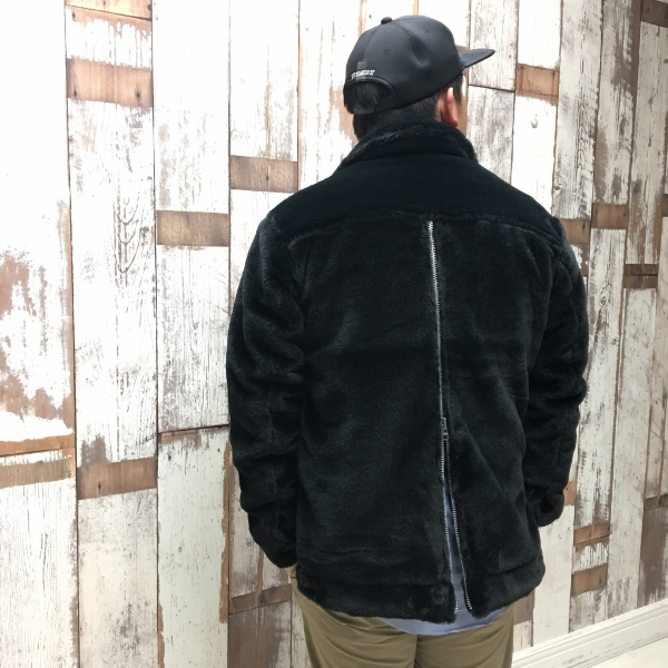 ONES STROKE ワンズストローク Fake Fur Jean Jacket 6.jpg
