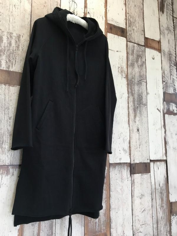 Marea Erre マレアエッレ zip hoodie long black 1.jpg