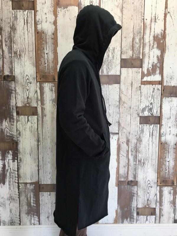 Marea Erre マレアエッレ zip hoodie long black 2.jpg