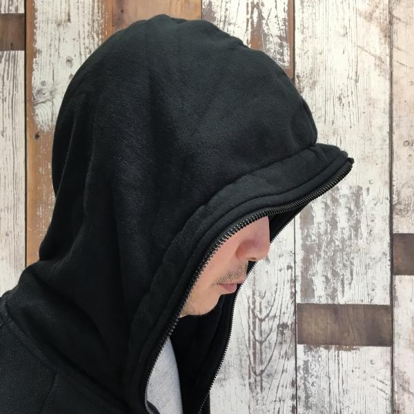 Marea Erre マレアエッレ zip hoodie long black 3.jpg