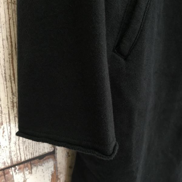 Marea Erre マレアエッレ zip hoodie long black 5.jpg
