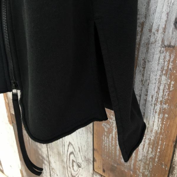 Marea Erre マレアエッレ zip hoodie long black 6.jpg