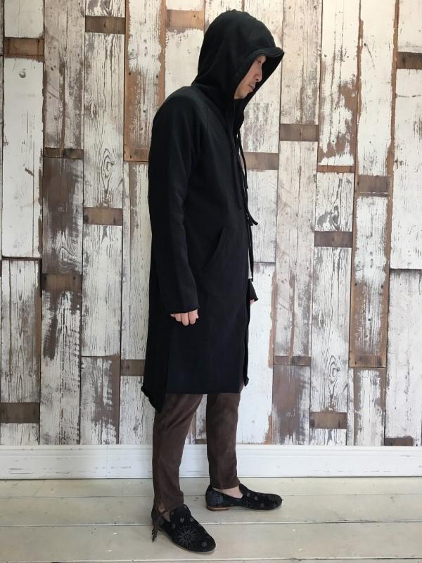 Marea Erre マレアエッレ zip hoodie long black 8.jpg