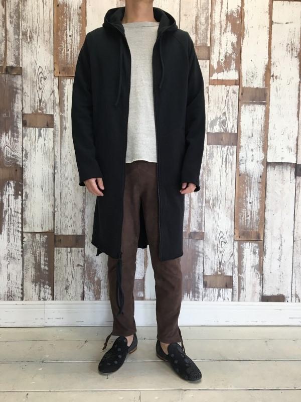 Marea Erre マレアエッレ zip hoodie long black 9.jpg