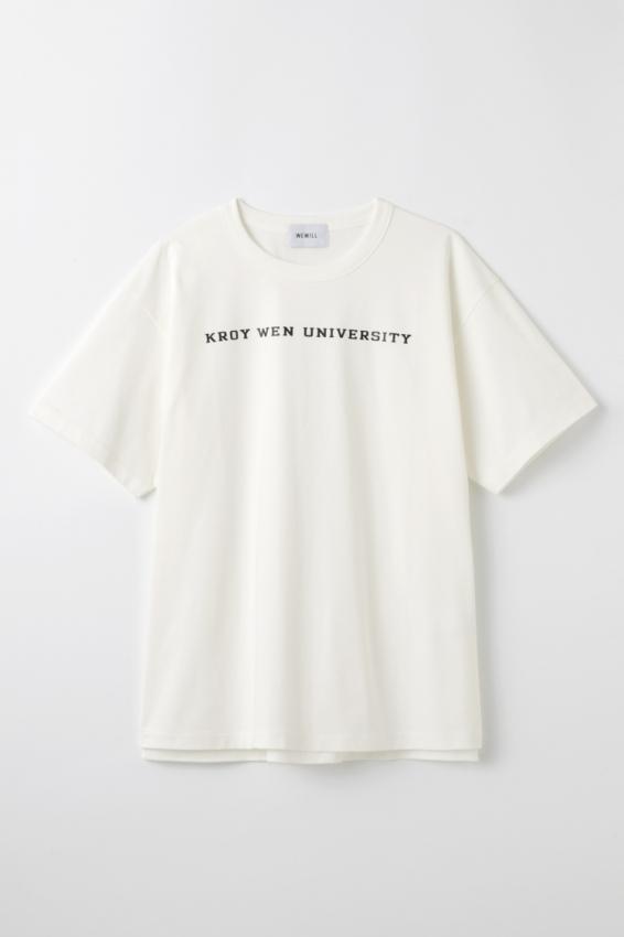 WEWILL ウィーウィル KWU logo Print T-shirt 1.jpg