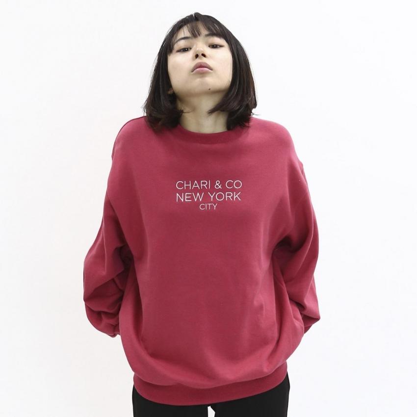 Chari&Co チャリアンドコー GOTHAM LOGO CREWNECK SWEATS 7.jpg