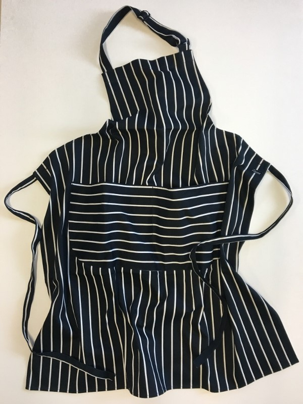 Dennys Striped Bib Apron with Pocket 1