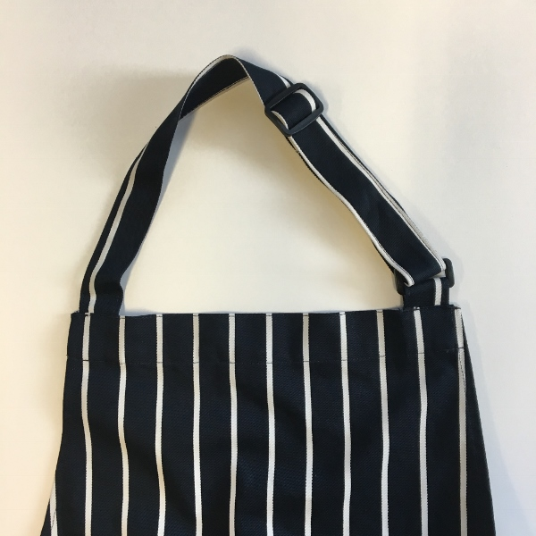 Dennys Striped Bib Apron with Pocket 2