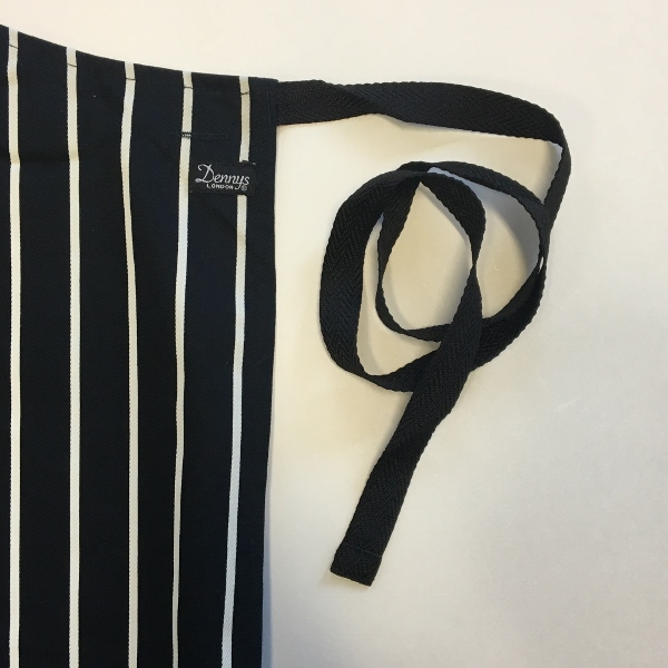 Dennys Striped Bib Apron with Adjustable Halter 3