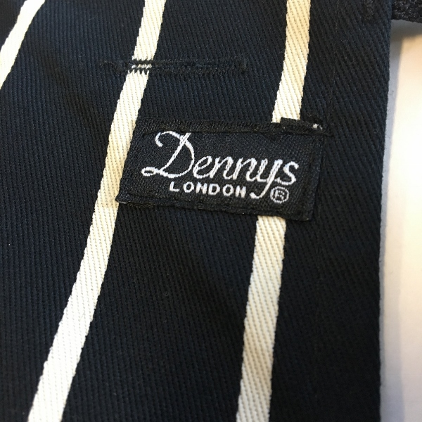 Dennys Striped Bib Apron with Pocket