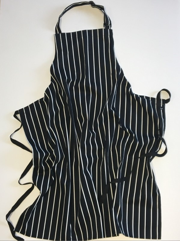 Dennys Striped Bib Apron with Adjustable Halter 1