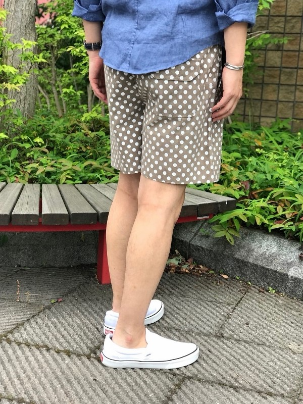 MAREA ERRE マレアエッレ SUEDE BIG DOT SHORTS 6