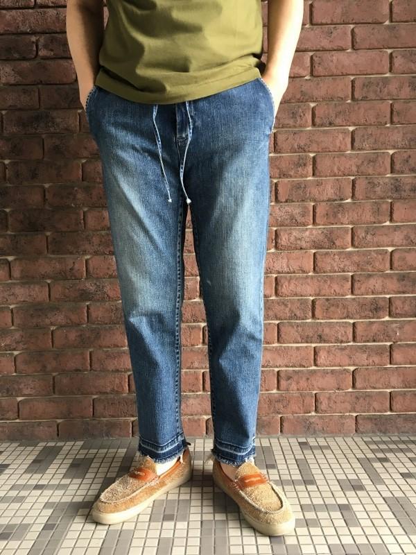 marea erre マレアエッレ DENIM Long Pants with string 1.jpg