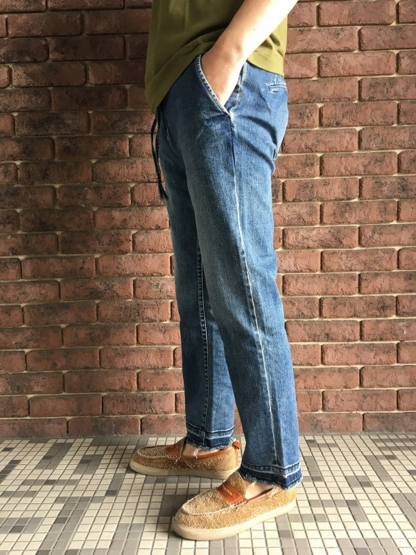 marea erre マレアエッレ DENIM Long Pants with string 2.jpg
