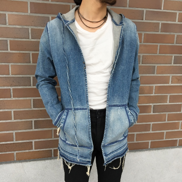 marea erre マレアエッレ DENIM ls shirt with hood 1.jpg