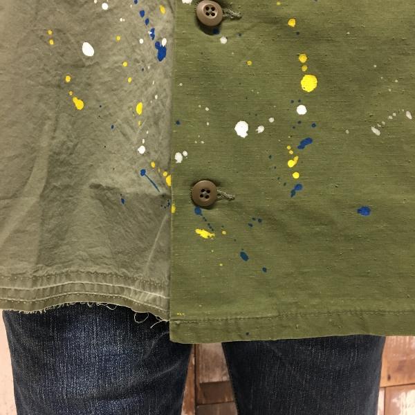 JOHN ELLIOTT ジョンエリオット Distorted Miritaly Shirt シャツ パッチワーク 4.jpg