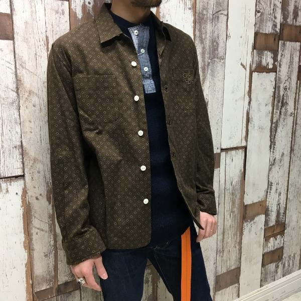 The Stylist Japan ザスタイリストジャパン 小紋シャツ サーマルカットソー 1.jpg