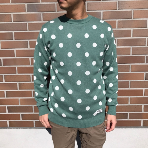WACKOMARIA ワコマリア DOTS JACQUARD SWEATER 3.jpg