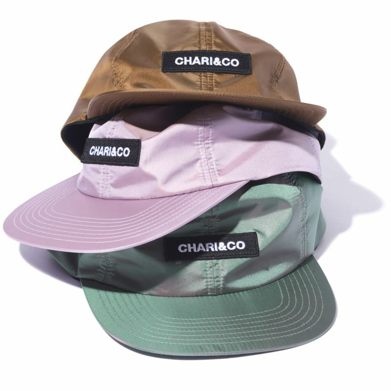 Chari&Co チャリアンドコー BOX LOGO METALLIC 6 PANEL CAP.jpg