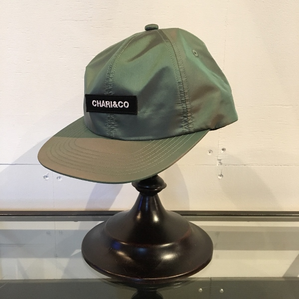 Chari&Co チャリアンドコー BOX LOGO METALLIC 6 PANEL CAP 1.jpg
