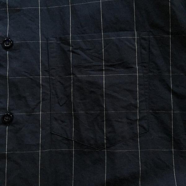 WEWILL ウィーウィル ノーカラーシャツ ウィンドーペン 3.jpg