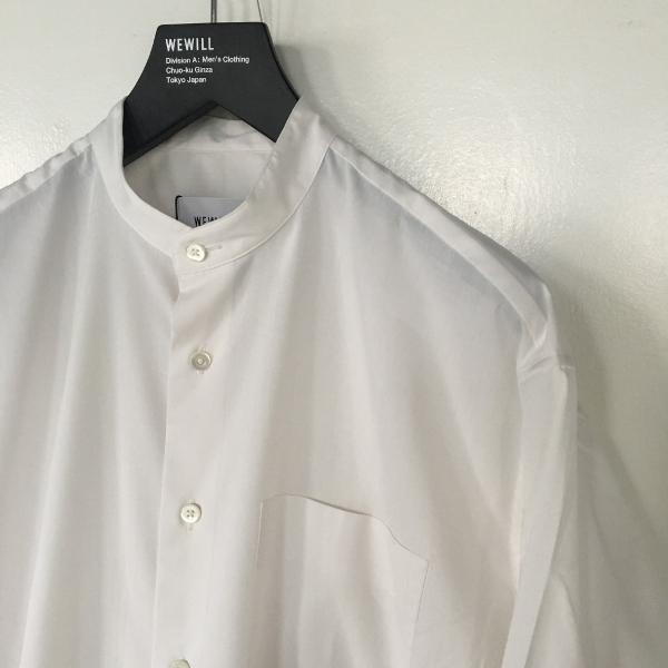 WEWILL ウィーウィル ノーカラーシャツ 1.jpg