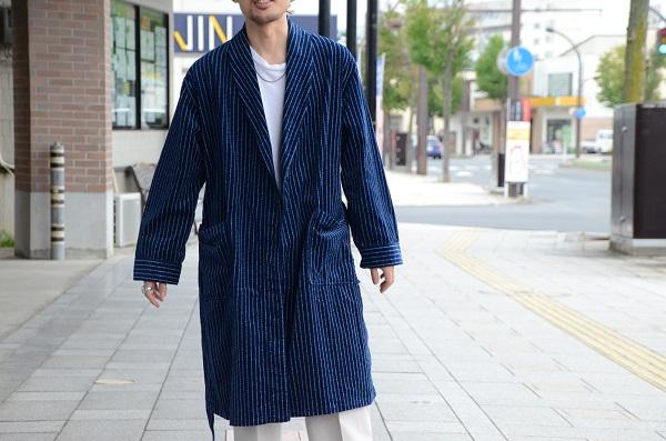 The Stylist Japan ザスタイリストジャパン インディゴ コーデュロイ ガウン 1.JPG