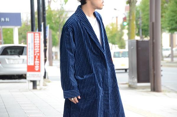 The Stylist Japan ザスタイリストジャパン インディゴ コーデュロイ ガウン 3.JPG
