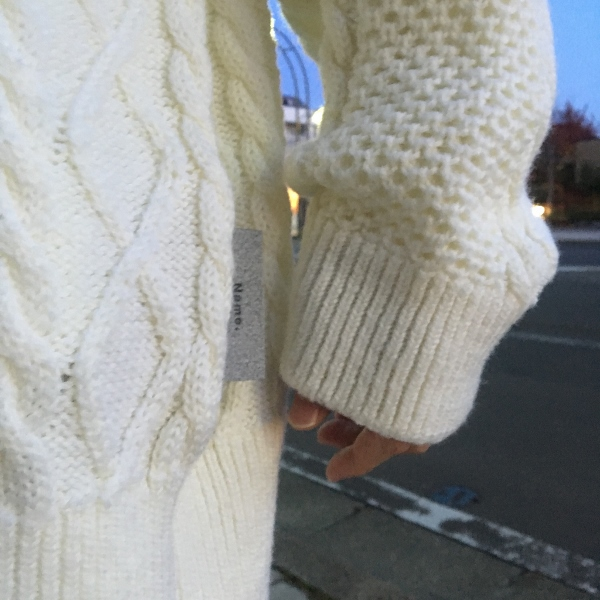 Name. ネーム CABLE KNIT OVERSIZED V NECK SWEATER 6.jpg