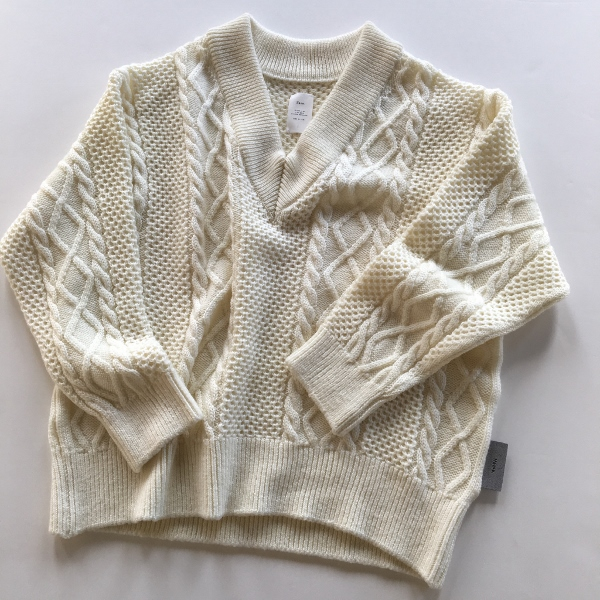 Name. ネーム CABLE KNIT OVERSIZED V NECK SWEATER 999.jpg