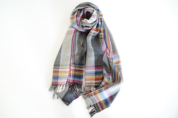 ザイノウエブラザーズ THEINOUEBROTHERS Multi Coloured Scarf Grey 1.jpg
