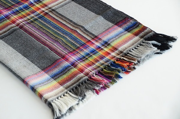 ザイノウエブラザーズ THEINOUEBROTHERS Multi Coloured Scarf Grey 2.jpg