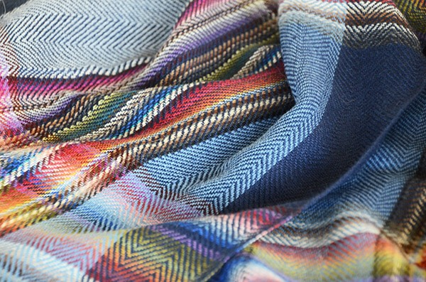 ザイノウエブラザーズ THEINOUEBROTHERS Multi Coloured Scarf Navy 3.jpg