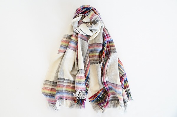ザイノウエブラザーズ THEINOUEBROTHERS Multi Coloured Scarf White 1.jpg