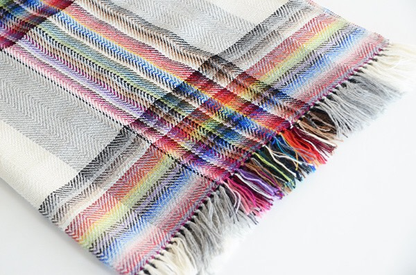 ザイノウエブラザーズ THEINOUEBROTHERS Multi Coloured Scarf White 2.jpg