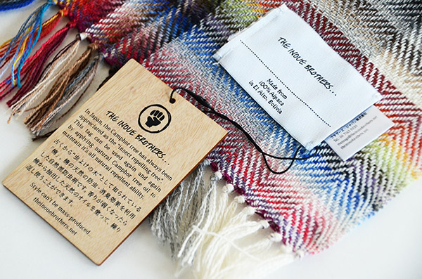 ザイノウエブラザーズ THEINOUEBROTHERS Multi Coloured Scarf White 5.jpg